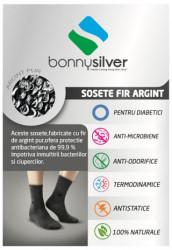 Sosete cu degete pentru diabetici cu fir de argint 13% BonnySilver 116