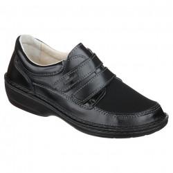 Pantofi pentru degete in ciocan piele negri dama OrtoMed 3739-P134