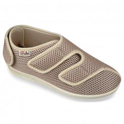 Pantofi recuperare medicala ortopedici bej OrtoMed 6051-T22