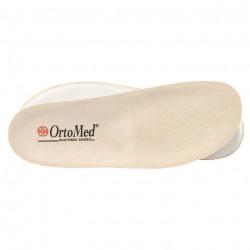 Sandale ortopedice bej piele dama OrtoMed 3705-P59