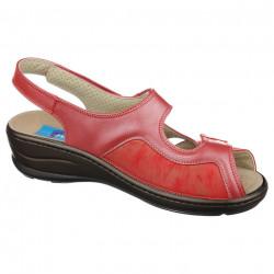Sandale pentru monturi / Hallux Valgus piele rosii PodoWell Dieppe