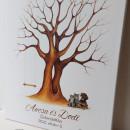 Egyedi ujjlenyomat fa vendégkönyv KEDVENC csomag