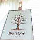 Ujjlenyomat fa csomag vendégkönyv BOKRÉTA
