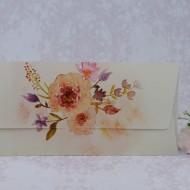 Invitatie de nunta florala in forma de plic 2214