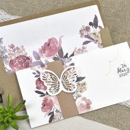 "Invitatie de nunta ""fluture"" 39611"