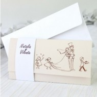 "Invitatie comica ""Here comes the bride"" 32625"