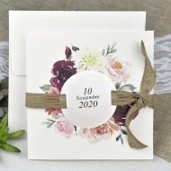 Invitatie de nunta cu flori 39622