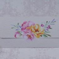 Invitatie de nunta florala tip plic 2209