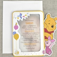 Invitatie de botez Winnie si Piglet 15729