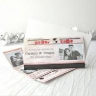 Invitație de nunta NEWSPAPER - 32615