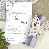 """Invitatie de nunta papirus """"fluture"""" 39619"""