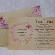 Invitatie de nunta vintage florala 22146