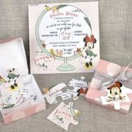 Invitatie de botez Puzzle Minnie 15711