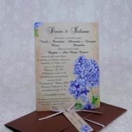 Invitatie de nunta cu flori de liliac 2232