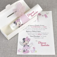 Invitatie de botez Zana Minnie 15708