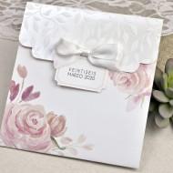 Invitatie de nunta cu flori acuarela 39623