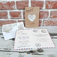 Invitatie de nunta 11548 pasaport