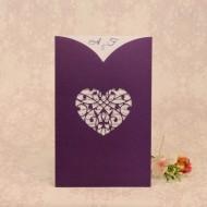 Invitatie de nunta dantelata mov 2205