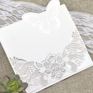 Invitatie de nunta taiere laser cu fluture 39624