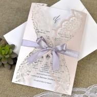 Invitatie de nunta eleganta taiere laser 39381