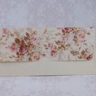 Invitatie de nunta florala crem in forma de plic 2211