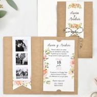 Invitatie de nunta Kraft 39732