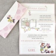 Invitatie de botez Baby Girl Minnie 15718