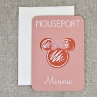 Invitatie de botez Pasaport Minnie 15706