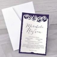 Invitatie de nunta catifea 39348
