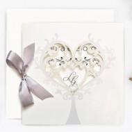 Invitatie de nunta decupaj laser 39749