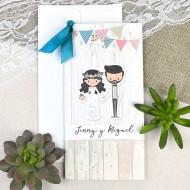 Invitatie de nunta rustica 39631