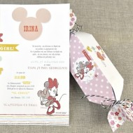 Invitatie de botez Candy Minnie 15720
