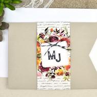 Invitatie de nunta cu flori 39614