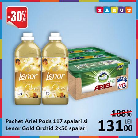 Oferta Ariel Pods si Lenor