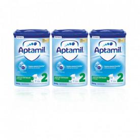 Aptamil 2 formula de lapte de continuare Premium, 6-12 luni, 3 x 800g, Nutricia