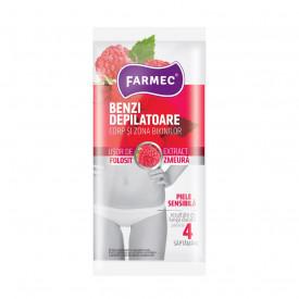 Benzi depilatoare Farmec pentru corp si zona bikinilor, 10 benzi corp + 4 benzi zona bikini