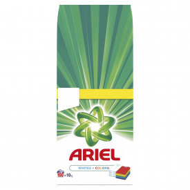 Detergent automat pudra Ariel White & Color, 100 spalari, 10kg
