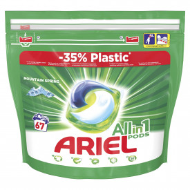 Detergent capsule Ariel All in One PODS Mountain Spring, 67 spalari