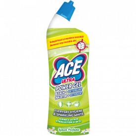 Inalbitor si degresant toaleta Ace Ultra Power gel Lemon, 750ml