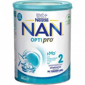 Lapte praf Nestle NAN 2 Optipro, de la 6 luni, 800g