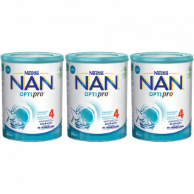 Lapte praf Nestle NAN 4 Optipro, 2-3 ani, 3 x 800 g