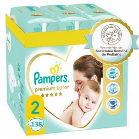 Scutece Pampers Premium Care XXL Box Nou Nascut, Marimea 2, 4-8 kg, 138 buc (6x23)