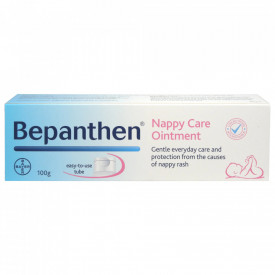 Unguent Bayer Bepanthen pentru iritatiile de scutec, 100g + Gratuit Bepanthen Baby gel de baie 200ml