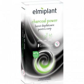 Benzi depilatoare Elmiplant Charcoal Power pentru corp, 12 buc