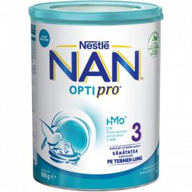 Lapte praf Nestle NAN 3 Optipro, 1-2 ani, 800 g