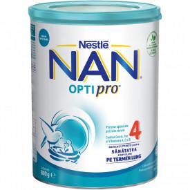 Lapte praf Nestle NAN 4 Optipro, 2-3 ani, 800 g