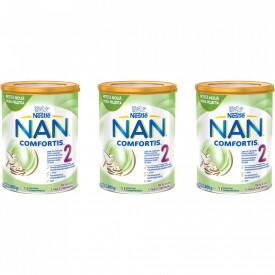 Lapte praf Nestle NAN Comfortis 2, de la 6 luni, 3 x 800g