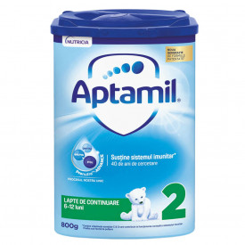 Aptamil 2 formula de lapte de continuare Premium, 6-12 luni, 800 g, Nutricia