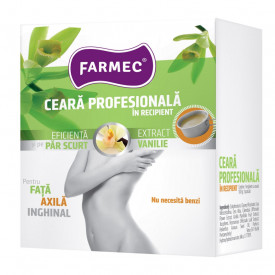 Ceara depilatoare profesionala Farmec, in recipient, 100 g