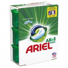 Detergent capsule Ariel 3in1 PODS Mountain Spring, 75 spalari